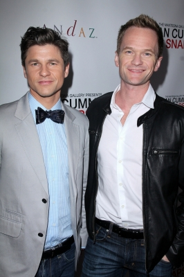 "Neil Patrick Harris wallpaper with a business suit titled Neil and David @  ""Alan Cumming Snaps"""
