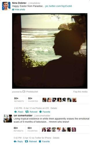 Nian tweets in tropical paradise 08-04-12