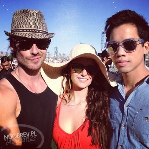 Nina Dobrev and Ian Somerhalder Spotted at Coachella