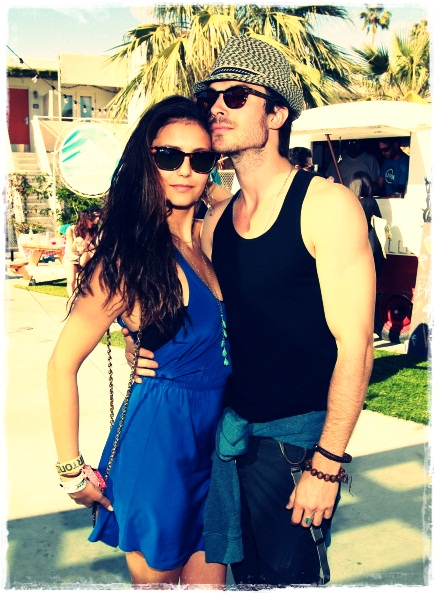 Nina + Ian at Coachella (UNTAGGED) - ian-somerhalder-and-nina-dobrev photo