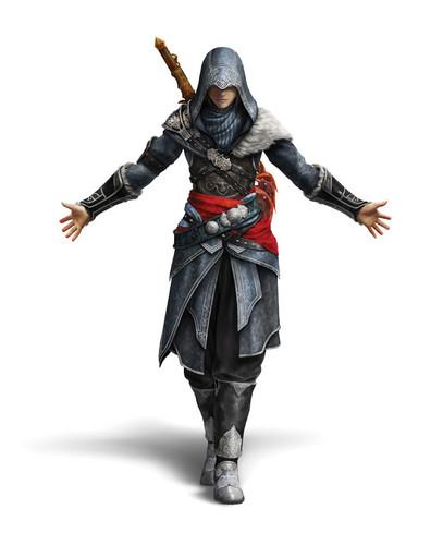 Noel in costume of Ezio in Assassin Creed 2