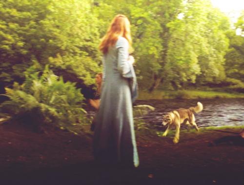 Nymeria and Sansa