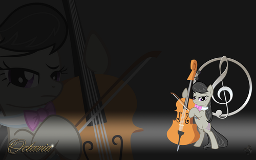 Octavia - background-ponies Photo