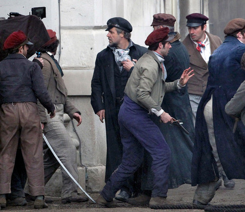 On the Set of Les Mis (12th March)