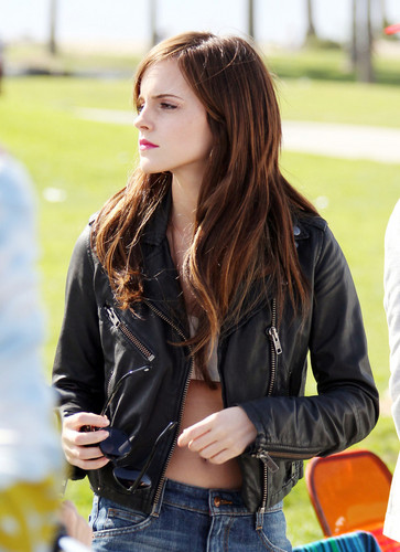 On the Set of The Bling Ring - April 12, 2012