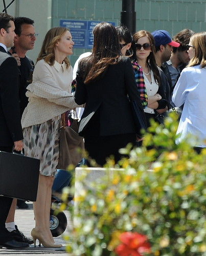 On the Set of The Bling Ring - April 9, 2012