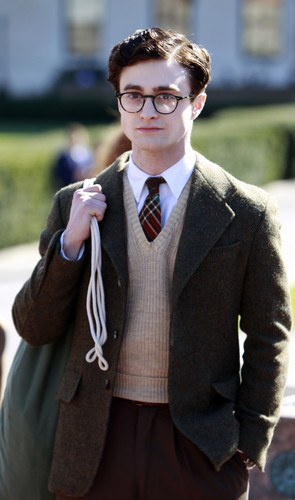 On the set of «Kill Your Darlings» - April 9, 2012 - HQ