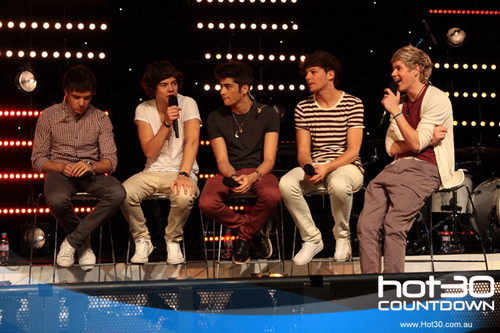 One Direction Co-Host 'Hot 30 Countdown' radio show 11.4.2012