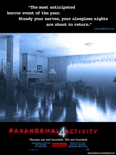 Paranormal Activity 4 fan Poster