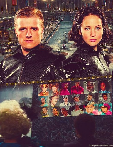 Peeta and Katniss پرستار art