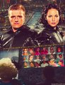 Peeta and Katniss অনুরাগী art
