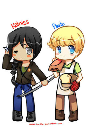 Peeta and Katniss - peeta-mellark-and-katniss-everdeen Photo