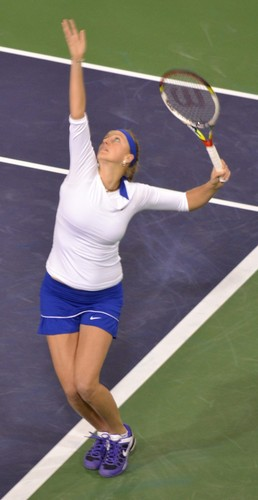 Petra Kvitova white and blue