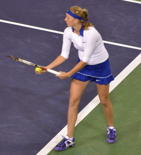 Petra Kvitova white and blue..