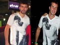 Piqué had the same kemeja as Stepanek had previously !