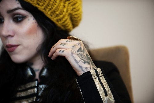 Portraits during an interview in Stockholm 2010 - kat-von-d Photo