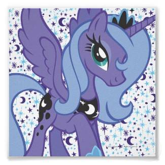 Princess Luna with backround