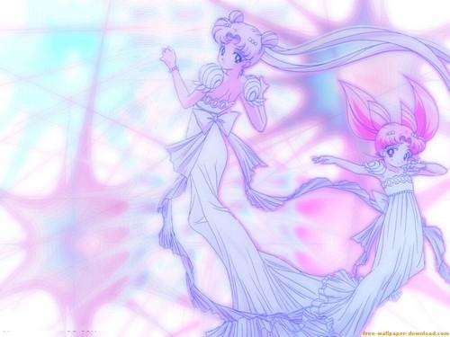 Princess Serenity and Small Lady Serenity