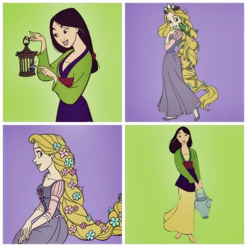 Princesses (Punz + Mulan)