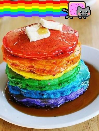 彩虹 Nyan 薄煎饼, 煎饼