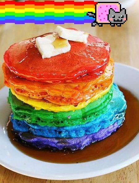 虹 Nyan パンケーキ