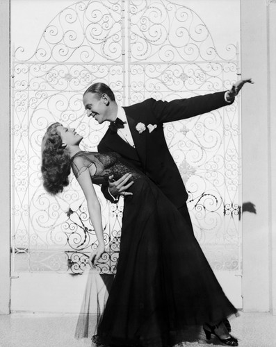 Rita Hayworth wallpaper containing a bouquet titled Rita Hayworth and Fred Astaire