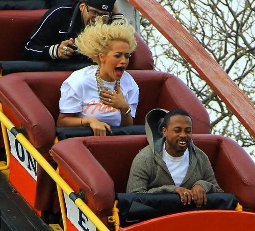 Rita Ora - Enjoying Herself At Coney Island - April 11, 2012