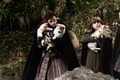 Robb and Bran with direwolfs - game-of-thrones-direwolves photo