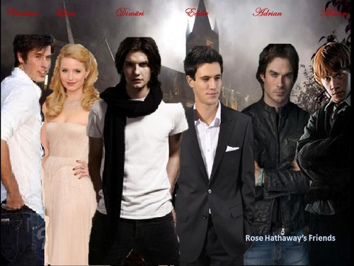 Vampire Academy achtergrond containing a business suit and a well dressed person titled Rose's vrienden (i made this! x)
