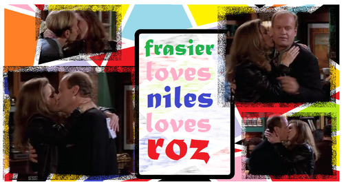 Frasier 바탕화면 probably containing a sign and a 거리 entitled RozKissFrasierNiles