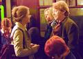 Rupert and emma on set