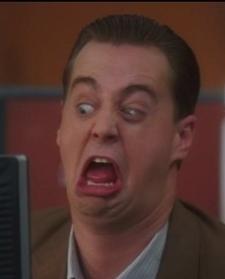 Sean Murray crazy face