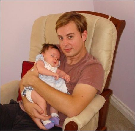 Sean murray with a little baby