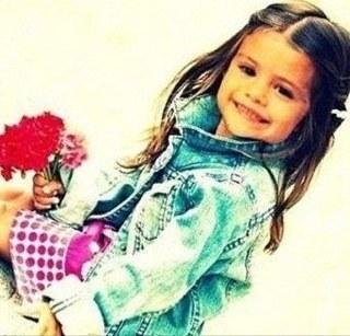 Selena Gomez as a baby
