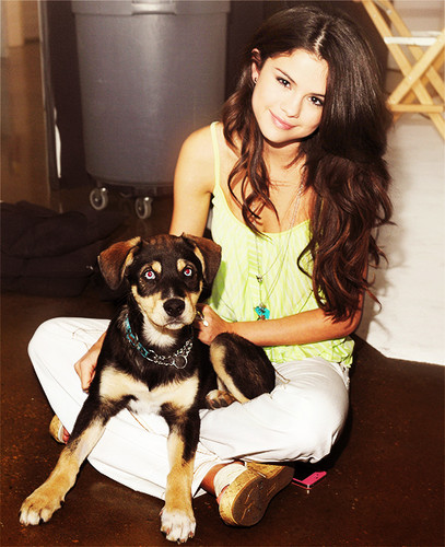 Selena and her dog!