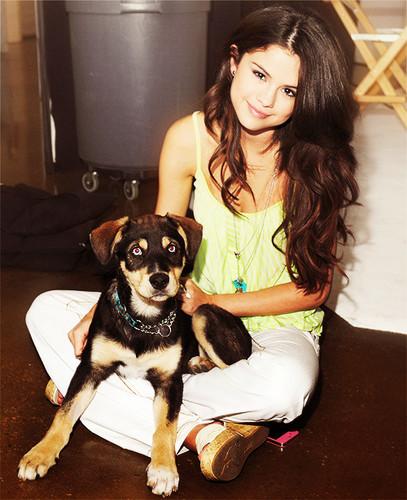 Selena and her dog!