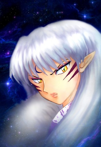 Sesshomaru in the Night Sky *.*