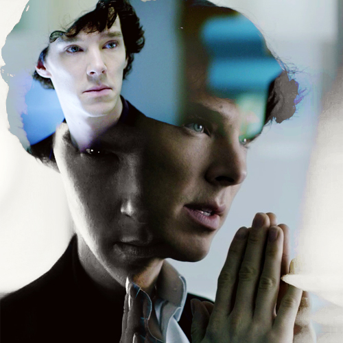 Sherlock in der BBC Hintergrund probably containing a portrait entitled Sherlock Holmes