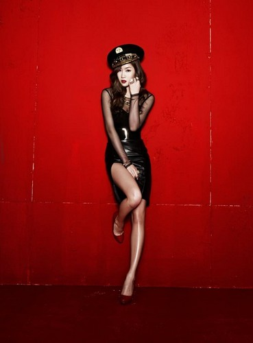 "SISTAR (씨스타) wallpaper probably containing a leotard and tights entitled Sistar Soyou ""Alone"" album jacket photos"