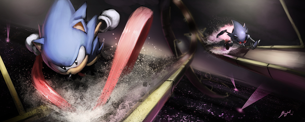 Metal Sonic Images Sonic Vs Metal Sonic Race Wallpaper And