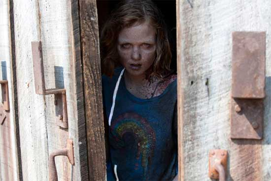 Sophia Coming Out Of Barn The Walking Dead Sophia Photo