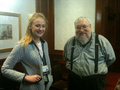 Sophie Turner & George R.R. Martin @ Eastercon 2012 - game-of-thrones photo