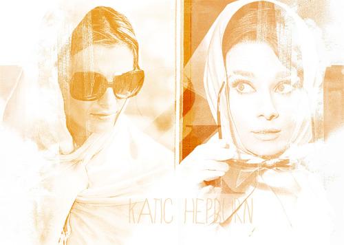 Stana almost like Audrey Hepburn <3