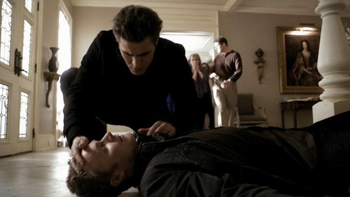Stefan finds John dead