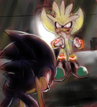 Super Silver V.S. Dark Sonic - silver-the-hedgehog photo