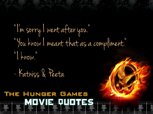 The Hunger Games wallpaper called THG Movie Quotes.
