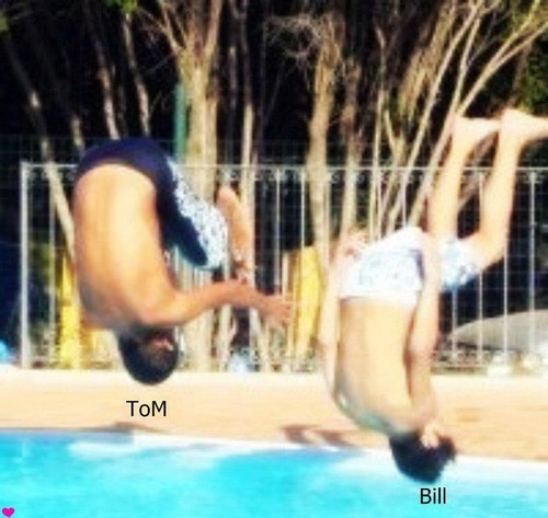 THe Kaulitz at the pool