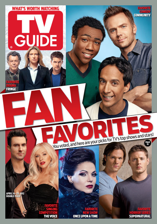 Tv guide comic-con special edition fringe cast on cover july 2012.