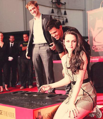 Taylor Lautner, Rob Pattinson and Kristen Stewart