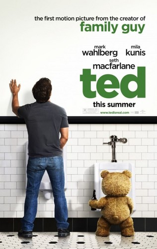 Mark Wahlberg Обои probably containing a sign and a men's room titled Ted (New Movie Summer 2012)